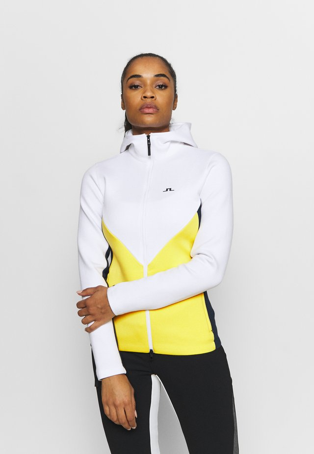 CRYSTAL CHEVRON - Sweatjacke - banging yellow