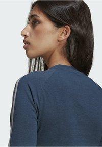 adidas Originals - FAKTEN LONG SLEEVE TEE - Long sleeved top - blue - 5