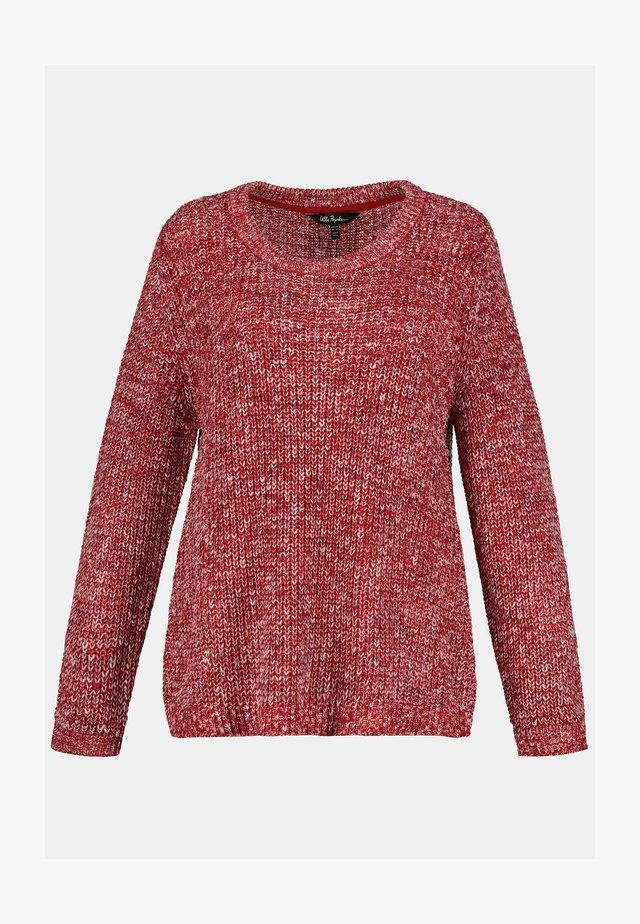 Sweater - dunkelrot-melange