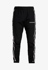 Calvin Klein Jeans - SIDE STRIPE TRACK PANT - Tracksuit bottoms - black - 4