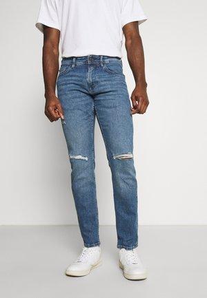 CULVER DESTROYED - Jeans slim fit - mid stone blue denim