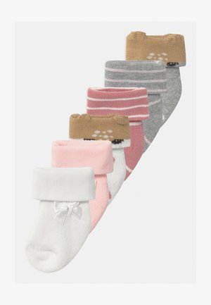 NEWBORN FAWN GIRLS 6 PACK - Socks - latte/grau