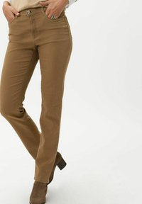 BRAX - STYLE CAROLA - Straight leg jeans - dark camel - 0