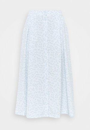 SIGRID BUTTON SKIRT - A-linjainen hame - blue dusty light