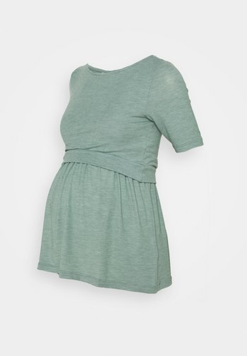 NURSING MLANABEL - Basic T-shirt - chinois green