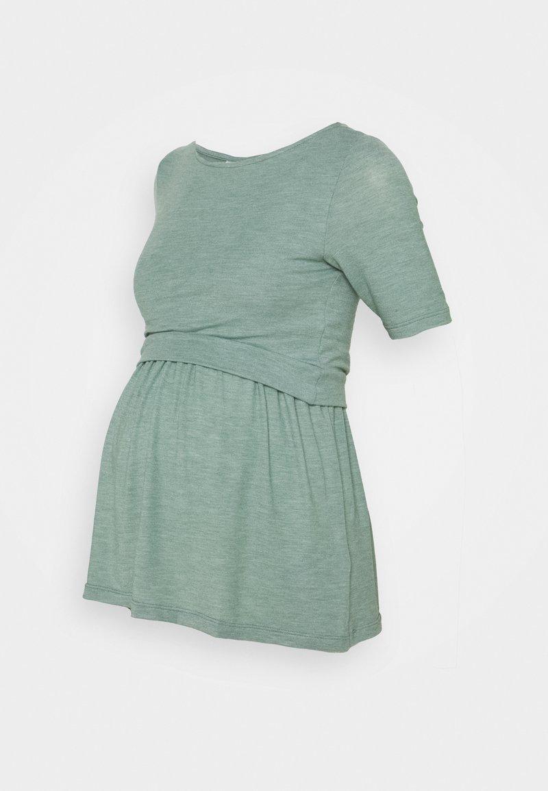 MAMALICIOUS - NURSING MLANABEL - T-shirts - chinois green