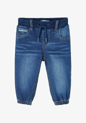 BAGGY - Jeans Tapered Fit - dark blue denim