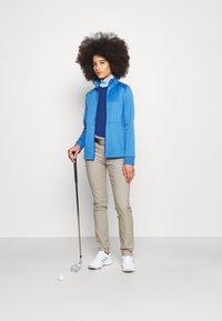 Callaway - MIDWEIGHT WAFFLE - Zip-up sweatshirt - blue tattoo heather - 1