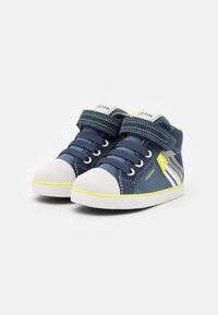Geox - KILWI BOY - Babyschoenen - navy/fluo yellow - 1
