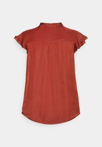 Banana Republic - FLUTTER SLEEVE TIE NECK SOLIDS - Blouse - red clay - 1