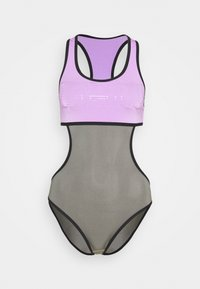 Arena - DUO REVERSIBLE RACER BACK ONE PIECE - Swimsuit - shark/provenza/black - 2