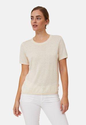 Basic T-shirt - light beige melange