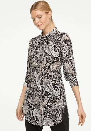 Button-down blouse - black paisley