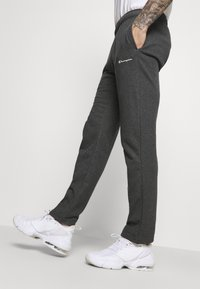 Champion - STRAIGHT HEM PANTS - Tracksuit bottoms - mottled dark grey - 3