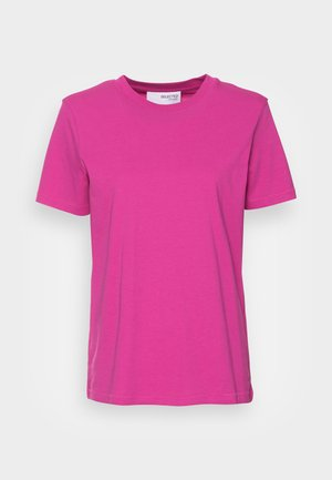 SLFMY PERFECT SS TEE BOX CUT COLOR B - T-shirts - rose violet