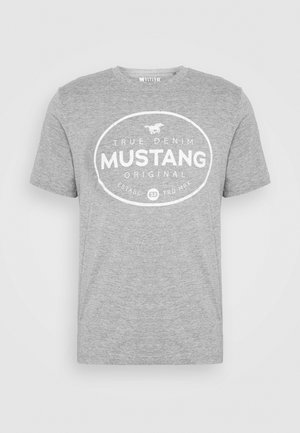 ALEX PRINT - Print T-shirt - midgrey melange