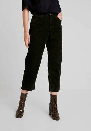ONLBITTEN MID PANT - Trousers - forest night