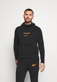 Nike Performance - AS ROM HOOD  - Article de supporter - black/safety orange - 0