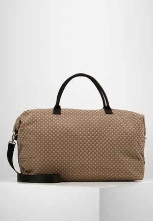 TRAVEL WEEKEND BAG - Weekend bag - beige/black