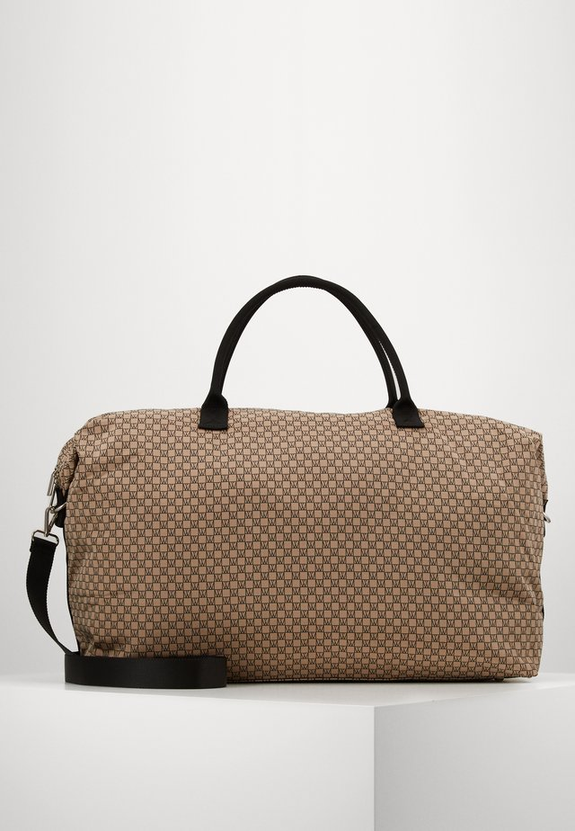 TRAVEL WEEKEND BAG - Weekendtasker - beige/black