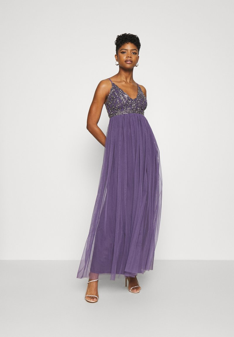 Lace & Beads - LEXI  - Occasion wear - mulled grape