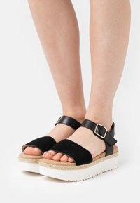 Clarks - LANA SHORE - Platform sandals - black - 0