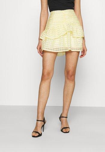 SIMONE SKIRT - Mini skirt - pale banana