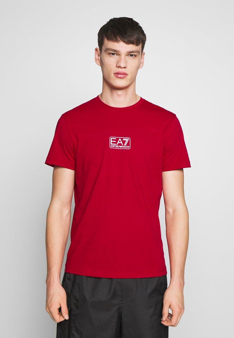 EA7 Emporio Armani - Print T-shirt - tango red