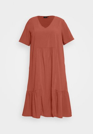 MCOMO KNEE DRESS - Vestido informal - burnt brick