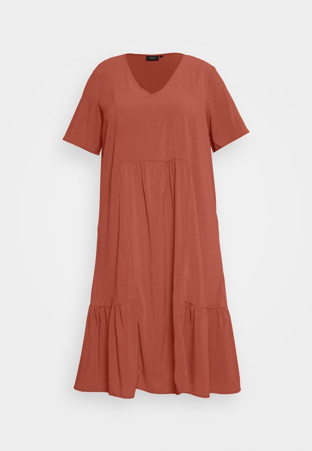 MCOMO KNEE DRESS - Day dress - burnt brick