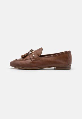 LEATHER - Mocasines - brown