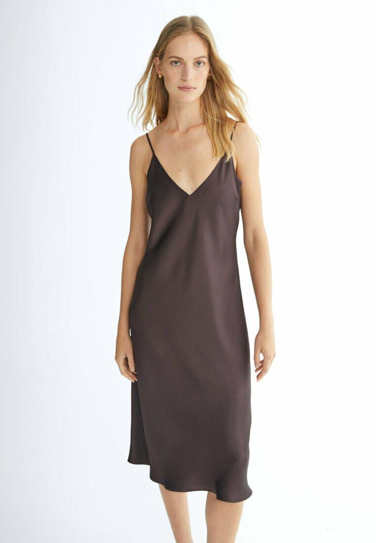 Massimo Dutti - Jersey dress - dark purple