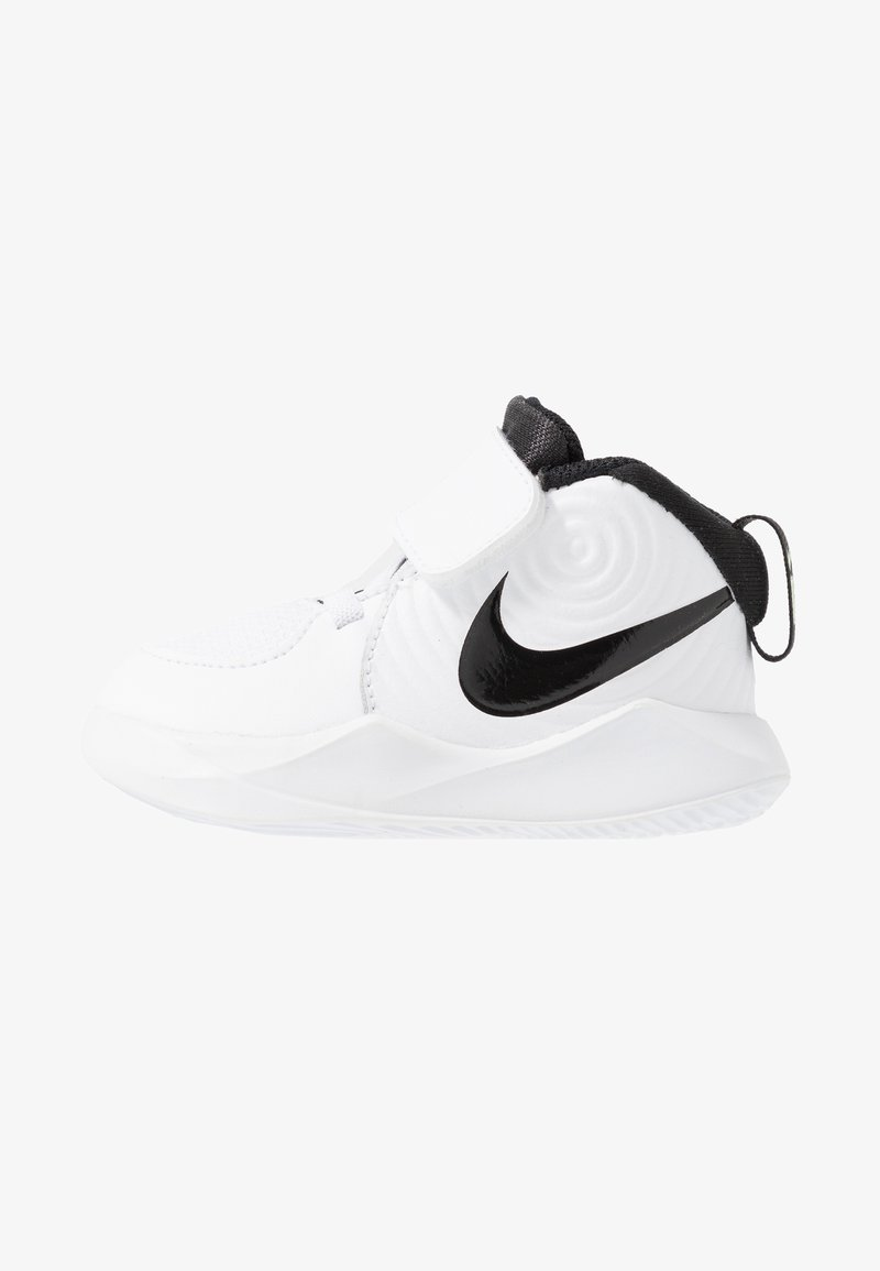 Nike Performance - TEAM HUSTLE - Basketball shoes - white/black/volt