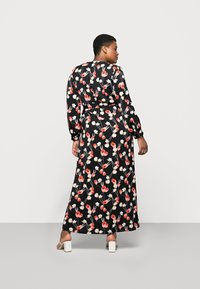 Missguided Plus - PLUNGE DRESS FLORAL - Day dress - red - 2