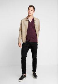 TOM TAILOR - STRIPED LONGSLEEVE - Long sleeved top - burgundy - 1