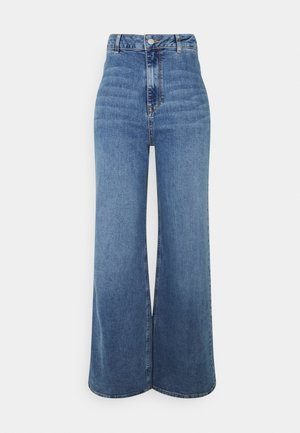 SLFASLY WIDE - Flared jeans - light blue denim