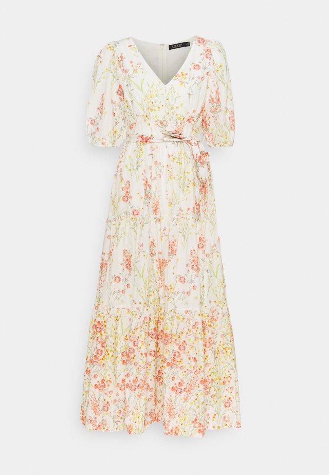 VOILE DRESS - Korte jurk - col cream/coral