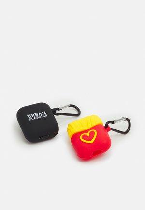 EARPHONE CASE 2 PACK - Pozostałe - black/yellow