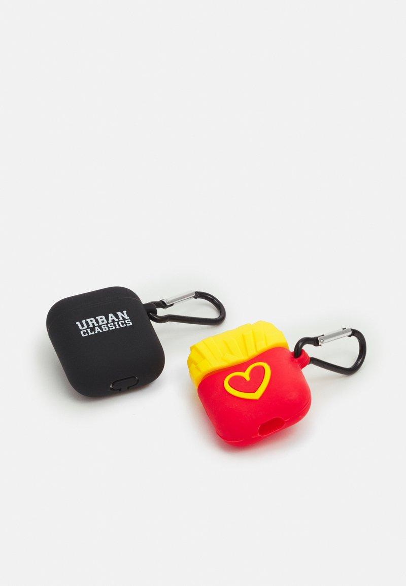 Urban Classics - EARPHONE CASE 2 PACK - Other - black/yellow