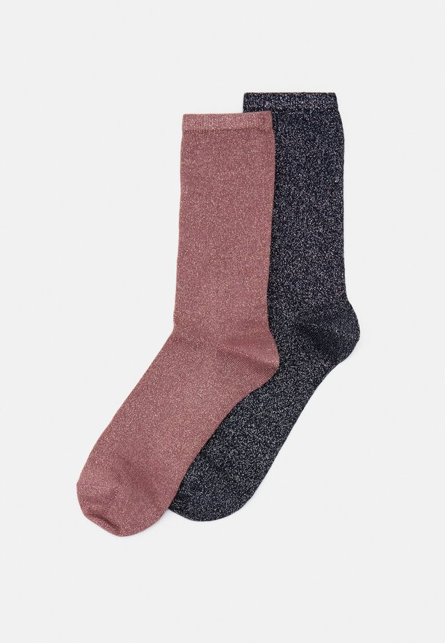 SOFT PLAIN 2 PACK - Chaussettes - midnight/rose