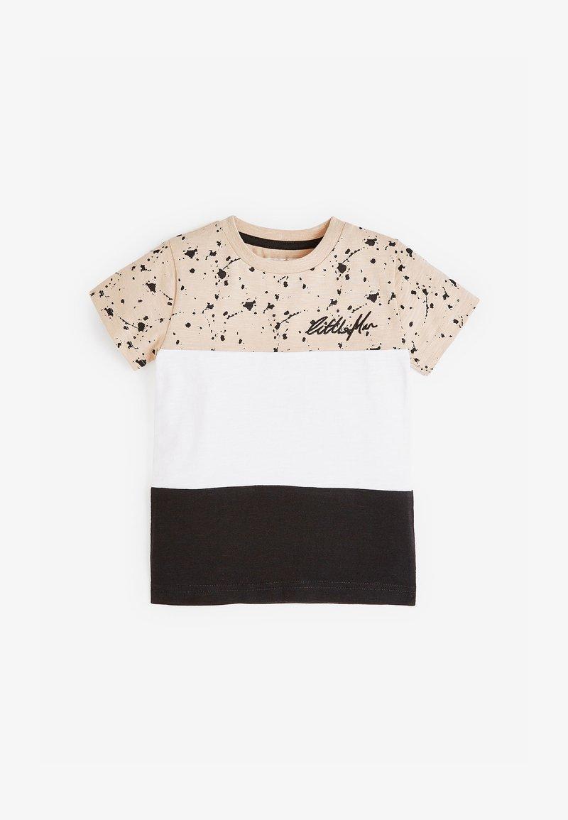 Next - COLOURBLOCK - Print T-shirt - tan
