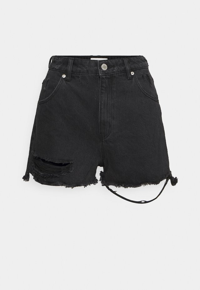 DUSTERS  - Jeans Short / cowboy shorts - black steel worn