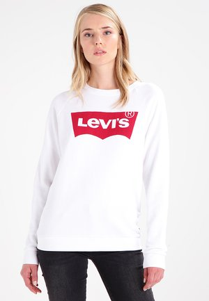 RELAXED GRAPHIC CREW - Sweatshirt - better batwing white