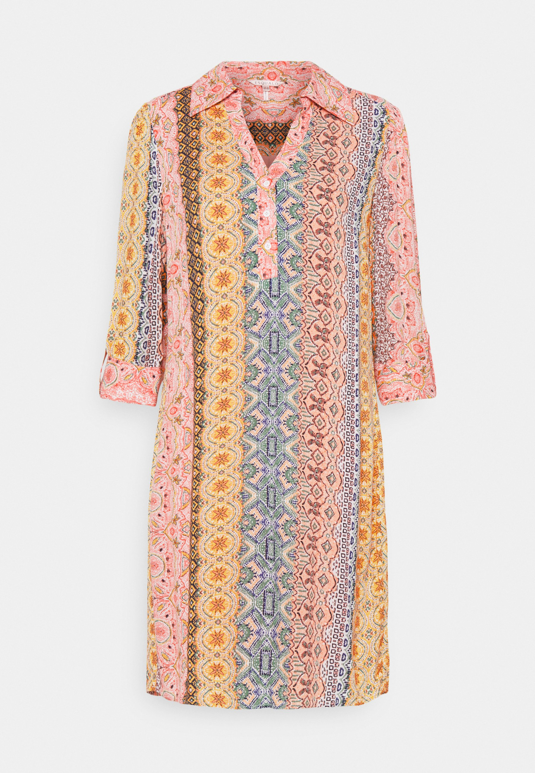 Women DRESS COLLAR BORDER PRINT - Day dress