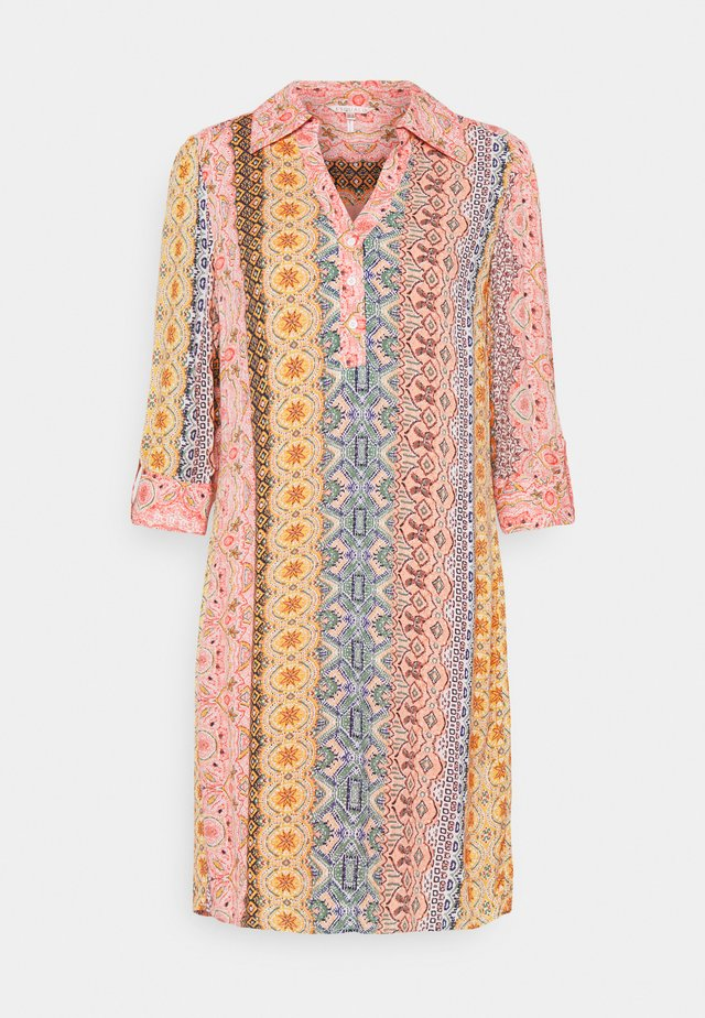 DRESS COLLAR BORDER PRINT - Day dress - multi coloured