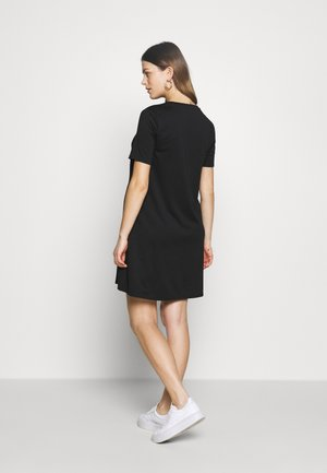 ZIP ACCESS NURSING DRESS - Žerzejové šaty - true black