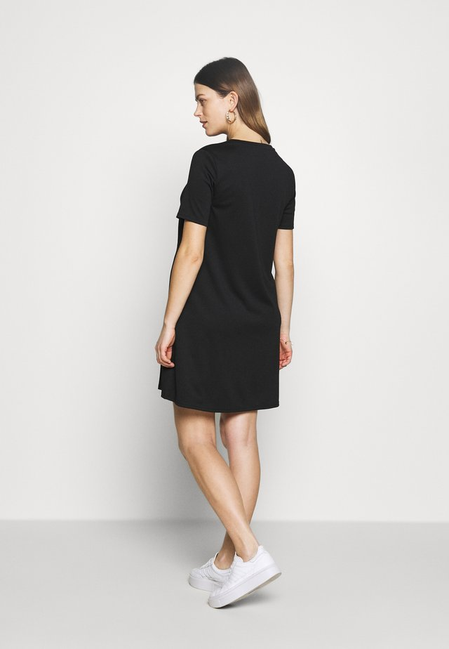 ZIP ACCESS NURSING DRESS - Jerseykjole - true black