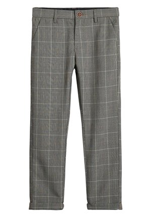 GREY CHECK TROUSERS (3-16YRS) - Trousers - grey