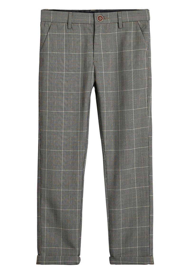 Next - GREY CHECK TROUSERS (3-16YRS) - Trousers - grey