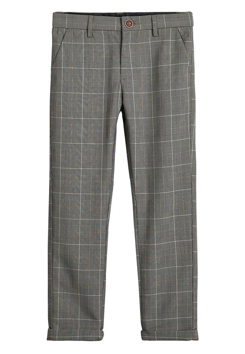 Next - GREY CHECK TROUSERS (3-16YRS) - Kalhoty - grey